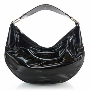B2G1 Gucci Patent Leather Half Moon Shoulder Bag